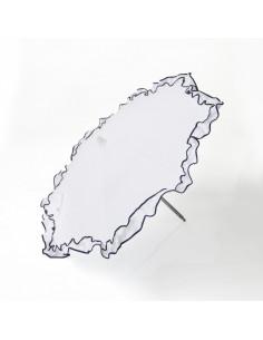 Sombrilla blanco marino para silla muñecas de Bebelux