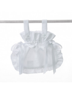 Bolso bombonera blanco de coche muñecas de Bebelux