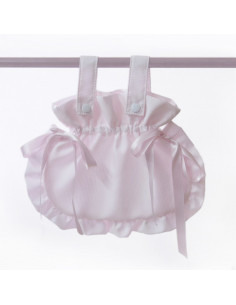 Bolso bombonera rosa de coche muñecas de Bebelux