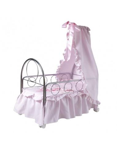 Cuna rosa de juguete Elena de Bebelux