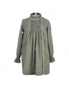Vestido para niña verde de La Ormiga Invierno