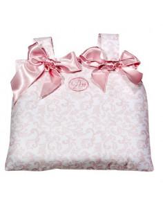 Bolsa panera coche cachemir rosa/ blanco de Muñecas Así