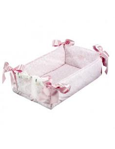 Cuna cambiador cachemir rosa/ blanco de Muñecas Así