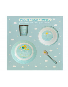 Set de Regalo babero y vaso infantil Mr. Wonderful Super Star