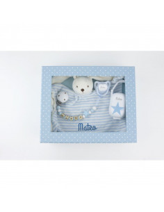 Cajita Baby Born Deluxe azul personalizada de Mi Pipo