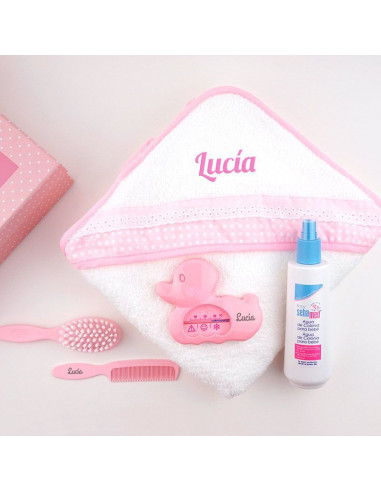 Cajita al agua rosa personalizada de Mi Pipo