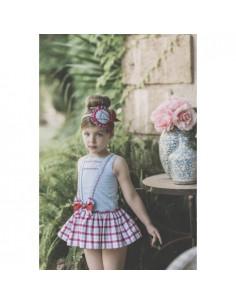 Vestido para niña Cuadros Rojo de Dolce Petit Verano