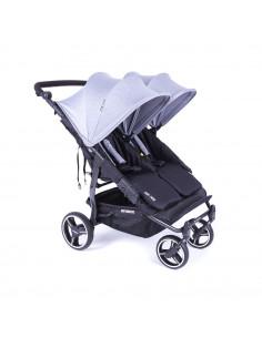 Silla gemelar Baby Monsters Easy Twin 3.0S Reversible Heather Grey