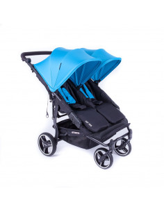 Silla gemelar Baby Monsters Easy Twin 3.0S Reversible Turquesa