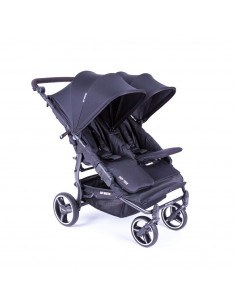 Silla gemelar Baby Monsters Easy Twin 3.0S Reversible Negra