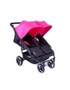 Silla gemelar Baby Monsters Easy Twin 3.0S Reversible Fucsia
