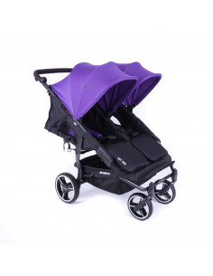 Silla gemelar Baby Monsters Easy Twin 3.0S Reversible Morado