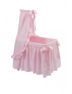 Moisés de juguete estrellas rosa de Bebelux