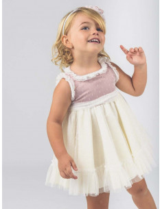 Vestido de bebé para niña Bicolor La Ormiga