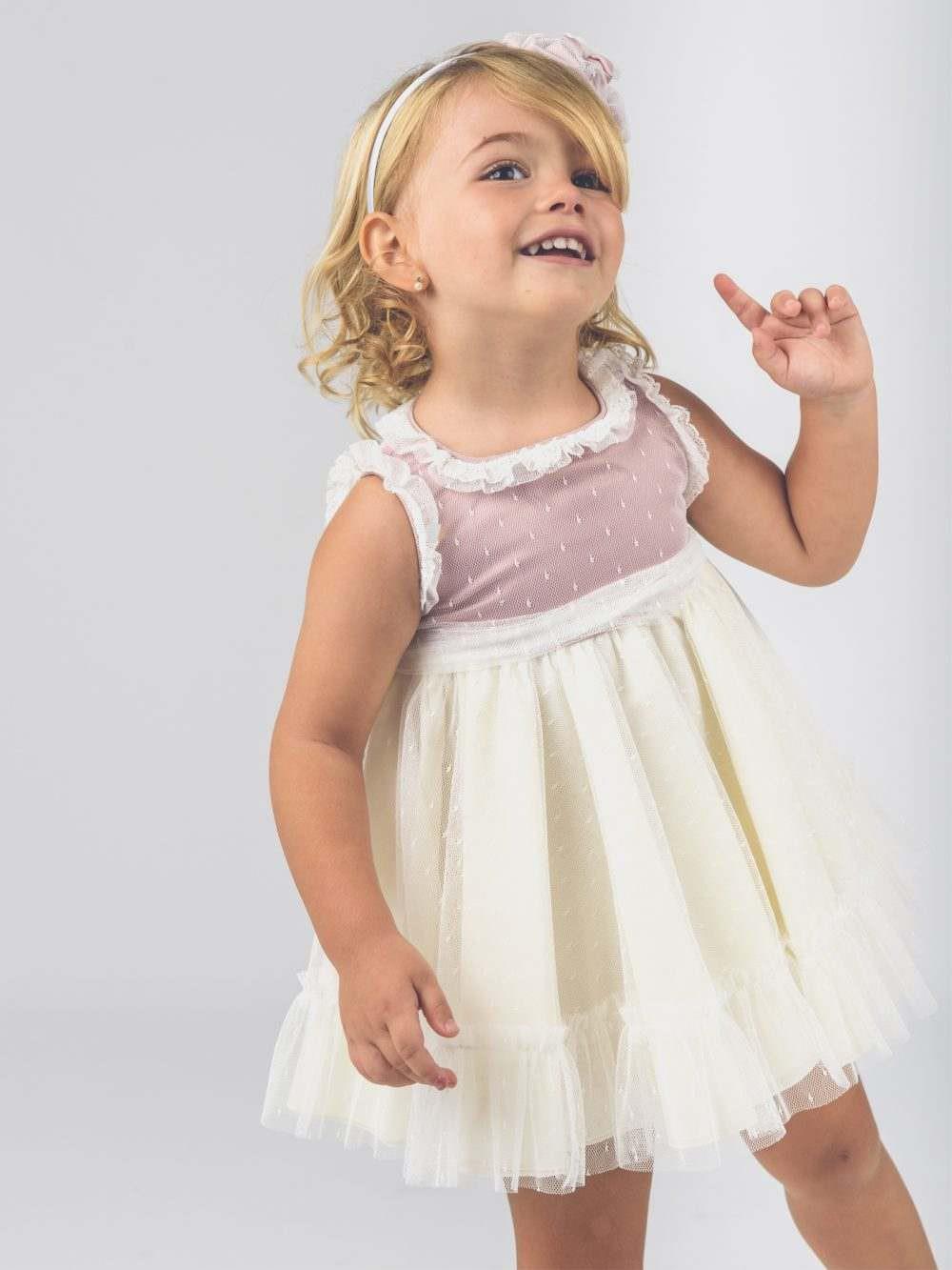 48868e9b9 Vestido de bebé para niña Bicolor La Ormiga