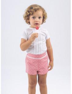Conjunto de bebé para niño Plumeti Rojo de La Ormiga