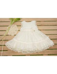 Vestido para niña Nacar de Marta y Paula Verano