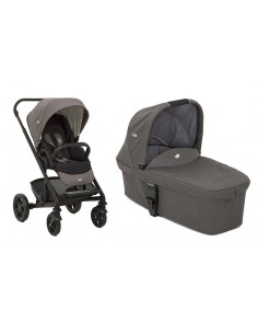 Coche de bebé dúo Joie Chrome Foggy Gray