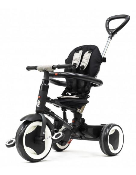Triciclo Q Play Rito plegable gris