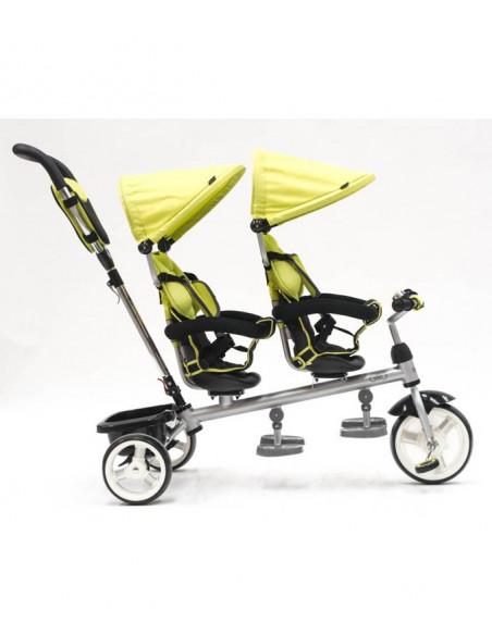 Triciclo Q Play gemelar verde