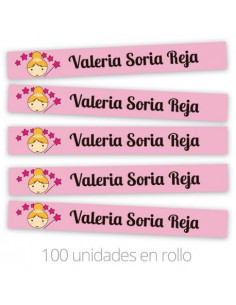 Cinta marca prendas termoadhesiva Personalizada hada rosa