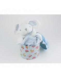 Muñeco Dou Dou azul +0m Personalizado en caja regalo