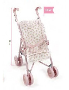 Sillita grande de paseo de muñecas flor rosa de La Nina