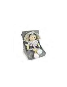 Muñeca de trapo Marta con vestido gris con estrellas La nina de 38 cm