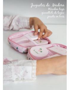 Silla gemelar de muñecas para niñas Inés La Nina