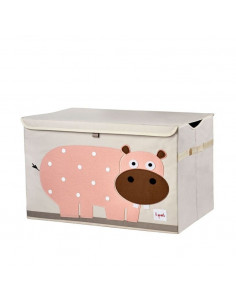 Arcón de juguetes hipopótamo de 3 Sprouts