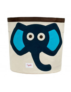 Cesta de juguetes elefante azul de 3 Sprouts