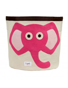 Cesta de juguetes elefante rosa de 3 Sprouts