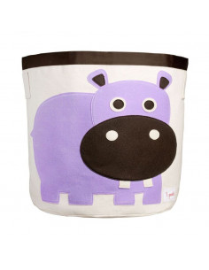 Cesta de juguetes hipopótamo de 3 Sprouts