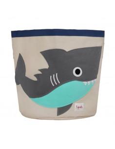 Cesta de juguetes tiburón de 3 Sprouts