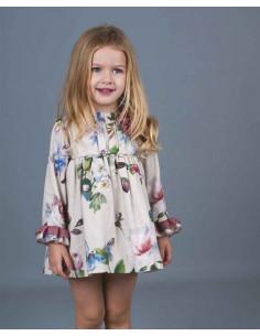 Vestido de bebé para niña verano Flores Acuarelas de La Ormiga