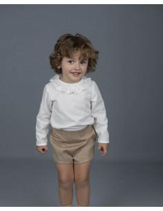 Conjunto de bebé para niño FLORES ROJAS/AZULES GRANDES de La Ormiga