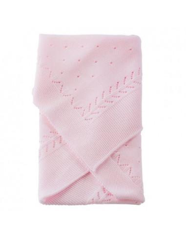 Toquilla Espiga de lana rosa de Muñecas Así