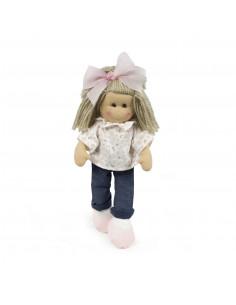 Muñeca de trapo Marta tejano de La Nina