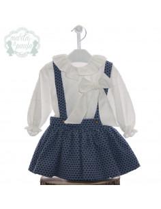 Conjunto de falda para niña Virginia de Marta y Paula