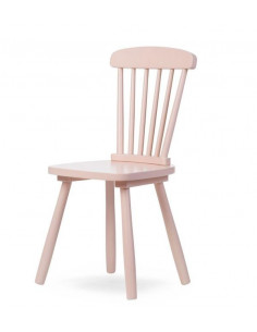 Silla infantil de madera Atlas rosa de Child Home