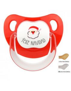Chupete Baby Feliz Navidad con Papá Noel de Mi Pipo