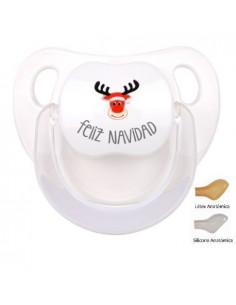 Chupete Baby Feliz Navidad con Reno Rudolf de Mi Pipo