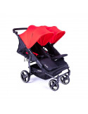 Silla Gemelar Easy Twin 3S rojo de Baby Monsters