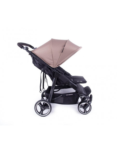 Silla Gemelar Easy Twin 3S taupe de Baby Monsters