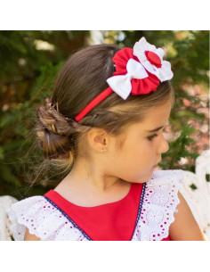 Diadema-pinza para niña Amapola de Dolce Petit Verano