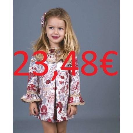 d368d10c0cf Vestido para niña pequeño FLORES ROJAS/AZULES GRANDES La Ormiga
