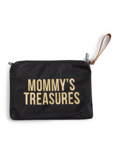 Neceser bebé negro Child Home Mommy Treasures letras doradas