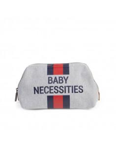 Neceser gris Child Home baby necessities líneas rojas y azules