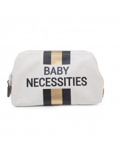 Neceser blanco Child Home baby necessities líneas negras y doradas