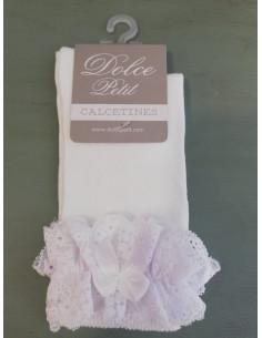 Calcetín para niña con encaje de Dolce Petit Verano